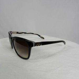 Tory Burch Black Tribal Brown Gradient Sunglasses
